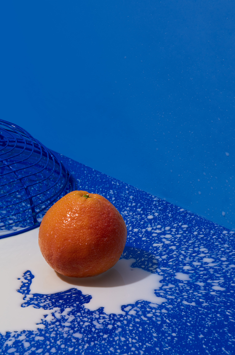 Orange on Blue, Tabletop Photography
