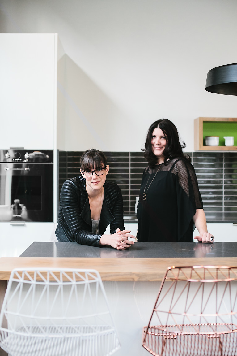 A portrait of Bright Design Lab founders in Portland, Oregon