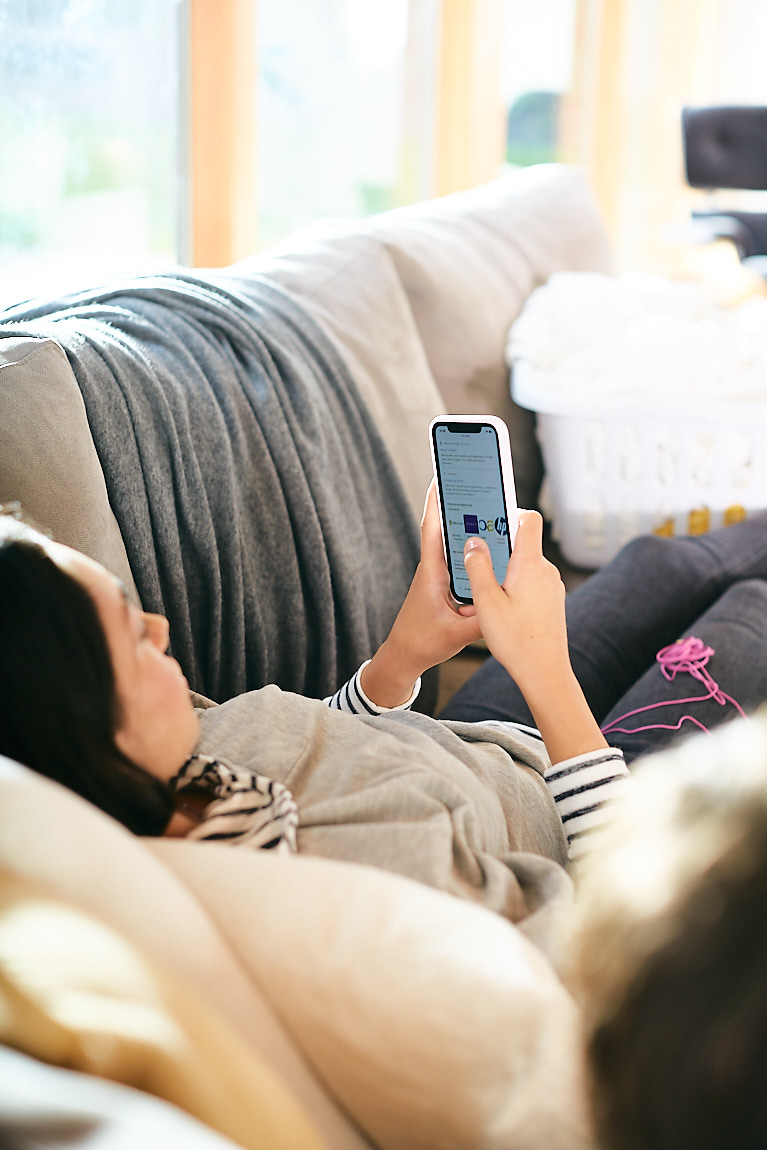 Lifestyle images of screen time and media use.